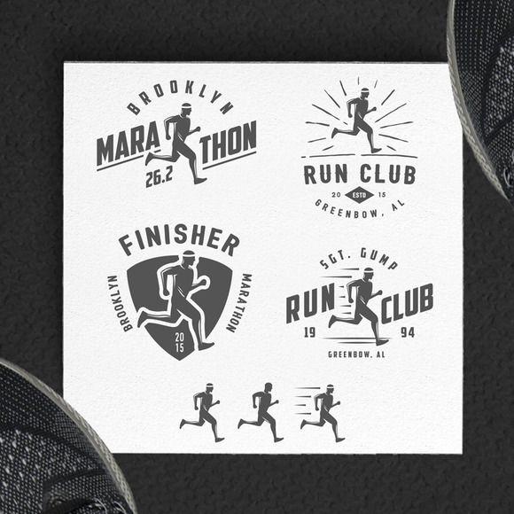 Running + marathon design elements by 1baranov on Creative Market