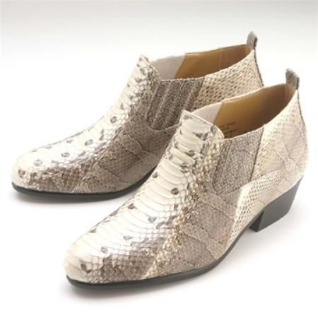 Natural Snakeskin Demi Boot for only  US $139.Buy 3 items get 5% off, Buy 8 items get 10% off.