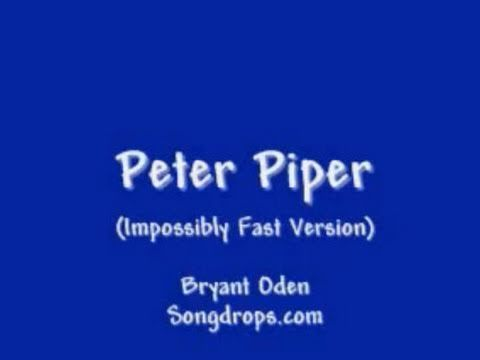 Peter Piper tongue twister song  by Bryant Oden