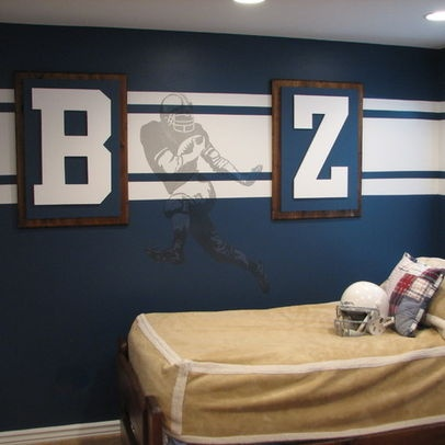 Football Themed Room Design, Pictures, Remodel, Decor and Ideas