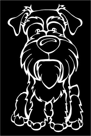 Schnauzer Decal Dog