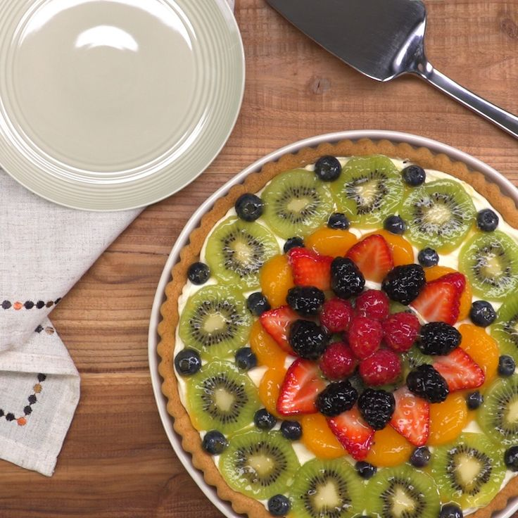 Using store-bought cookie dough for the crust makes this fruit tart with cream cheese filling shockingly simple to create. But the real secret is in the glaze!