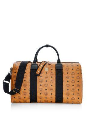 c1f5ce1b6fc6 MCM Weekender Visetos Coated Canvas Traveler Duffel Bag.  mcm  bags   leather  travel bags  weekend  canvas