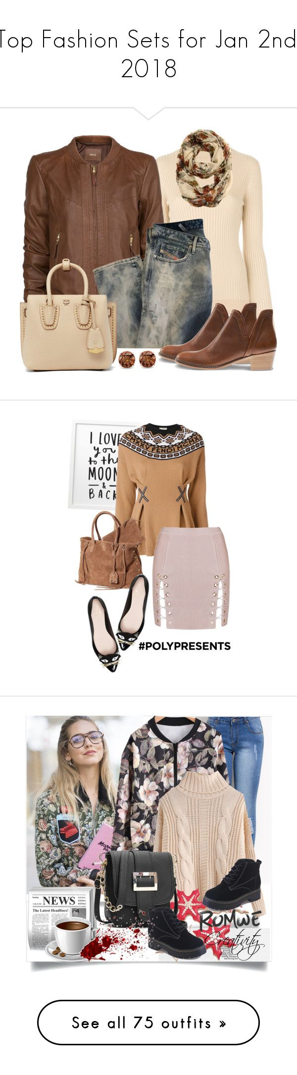 """""""Top Fashion Sets for Jan 2nd, 2018"""" by polyvore ❤ liked on Polyvore featuring Courrèges, MANGO, Diesel, MCM, Auriya, Kate Spade, Fendi, contestentry, polyPresents and romwe"""
