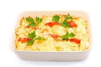 Recipe for Apple Sausage Casserole with veggie sausage and multi-grain bread.