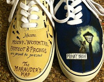 Harry Potter Inspired Custom TOMS by CestlaVic on Etsy
