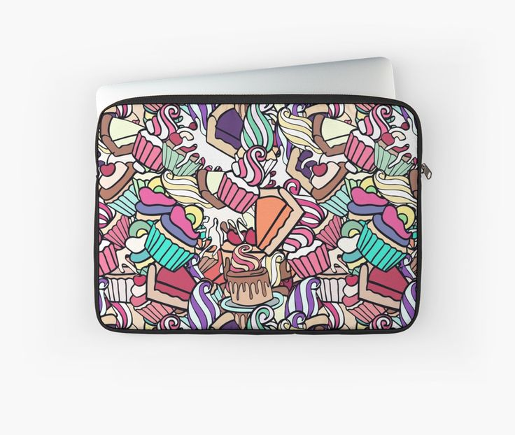 """Sweet assorty doodle."" Laptop Sleeves by kakapostudio 