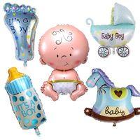 5 pz/set carino bambini foglio di alluminio elio palle bambino ragazzo ragazza doccia air balloons festa di compleanno rifornimenti del partito della decorazione