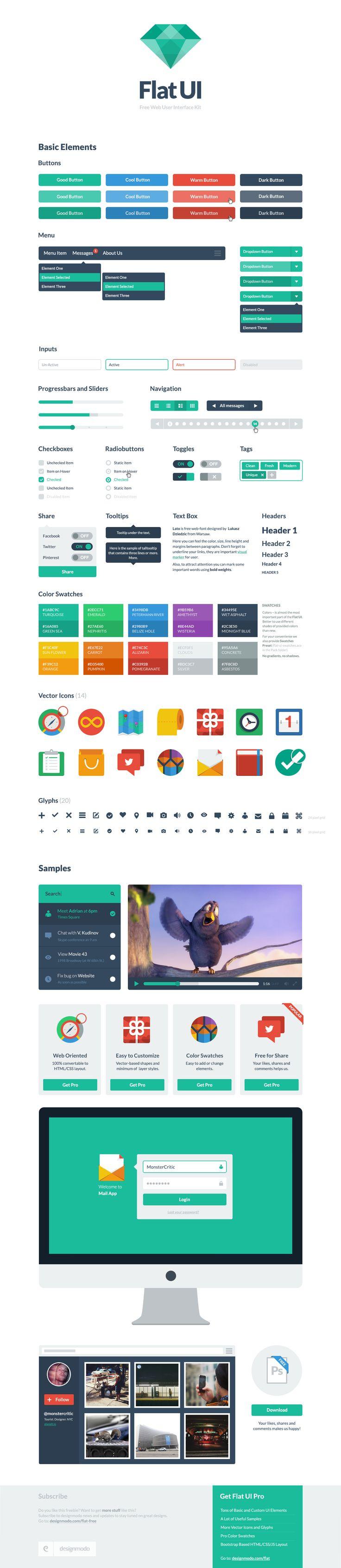 Flat-ui-kit-free - designmodo