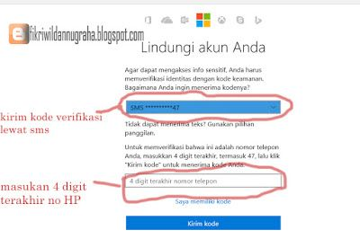 lalu klik kirim kode tutorial windows live