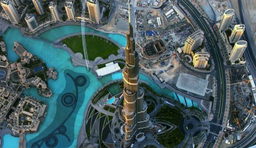 Jetman Fly Over Dubai, UAE, Young Feathers, Yves Rossy, Futuristic Life, Sci-Fi, Jetpack, Future Aircraft, Burj Khalifa tower, Futuristic City, United Arab Emirates