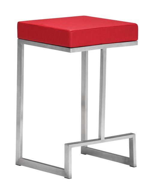Zuo Modern 300050 Darwen Counter Chair in Red