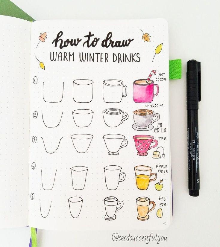 Wie Fall Bullet Journal Doodles ziehen? | Seed erf…