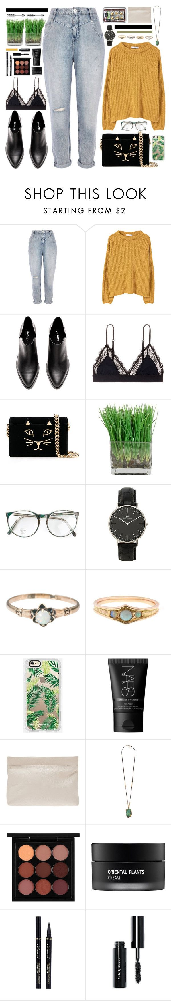 """""""03.11.2016"""" by saramsilva ❤ liked on Polyvore featuring River Island, MANGO, LoveStories, Charlotte Olympia, Daniel Wellington, Casetify, NARS Cosmetics, Acne Studios, Pieces and Forever 21"""