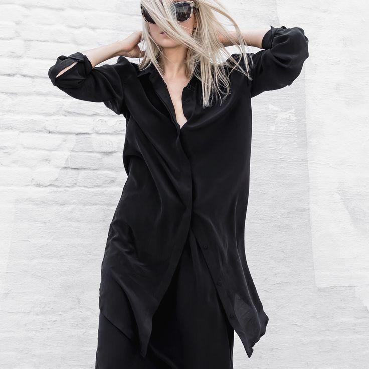 TF X FIGTNY   SPRING 16 COLLABORATION RELAXED SHIRT DRESS #thirdform #figtny #minimal #urban #streetstyle #fashion #trend #clean #black #dress