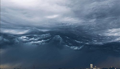 """Undulatus asperatus"" is a cloud formation proposed in 2009 that roughly translates to ""roughened or agitated waves."" These dark and stormy clouds travel a"