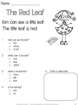 Number Names Worksheets reading exercise for kindergarten : 1000+ images about Reading comprehension on Pinterest