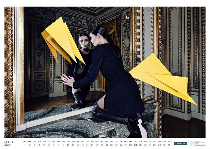 2014 Calendar for Polish Embassy in Paris by Piotr Stoklosa