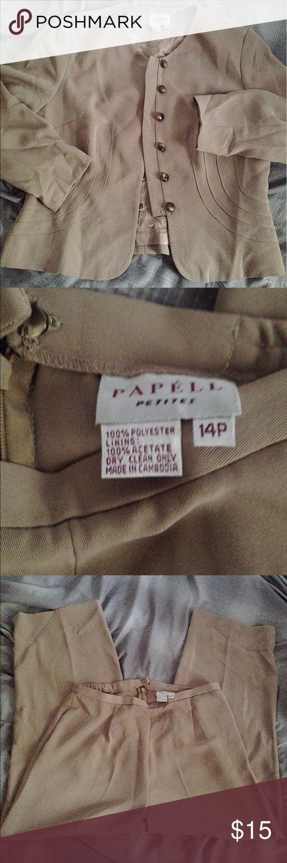 Women's Papell Petites Suit ⚡️Women's Papel Petites Suit.                            ⚡️Excellent Condition Jackets & Coats