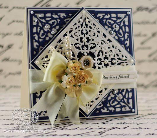 Card making ideas by Becca Feeken using JustRite Filigree Corners