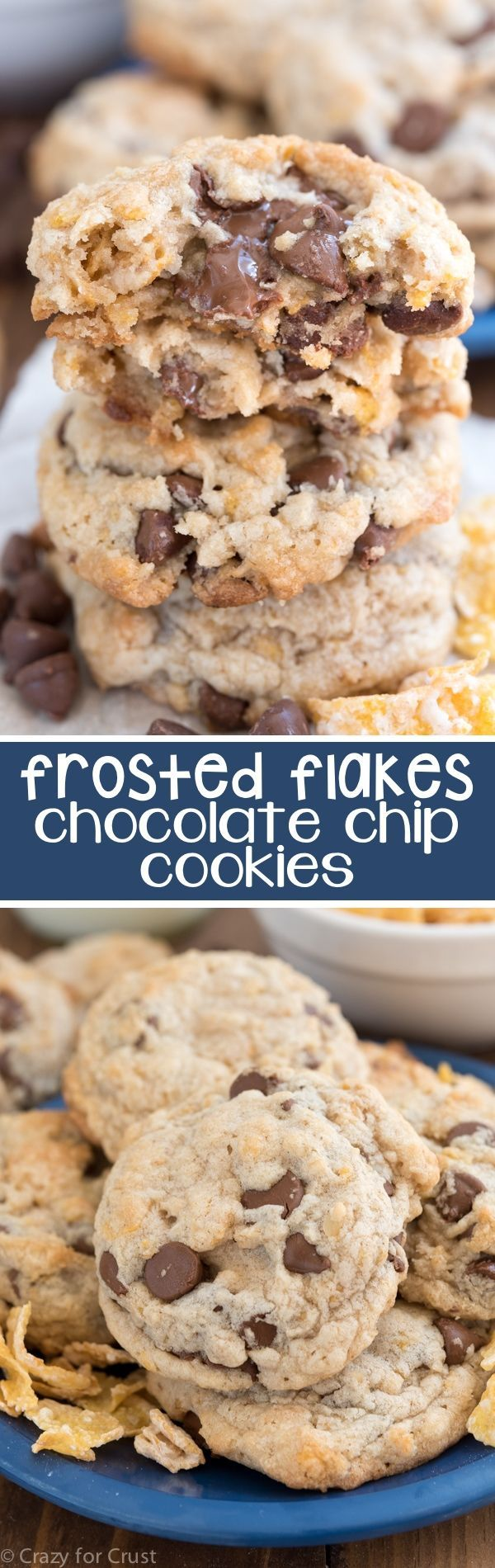Frosted Flakes Cookies will become your favorite cookie recipe ever! It's an easy chocolate chip cookie recipe filled with chocolate chips and Frosted Flakes cereal. The texture of these cookies can't be beat!