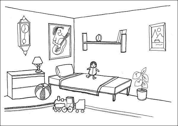 Situační obrázky - Dětský pokoj