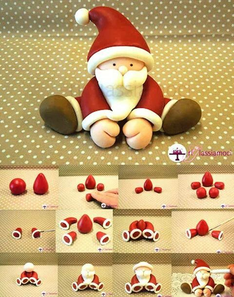 Polymer Clay Santa Picture Tutorial