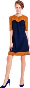 Платье MustHave 1721 38 p Горчично-синее