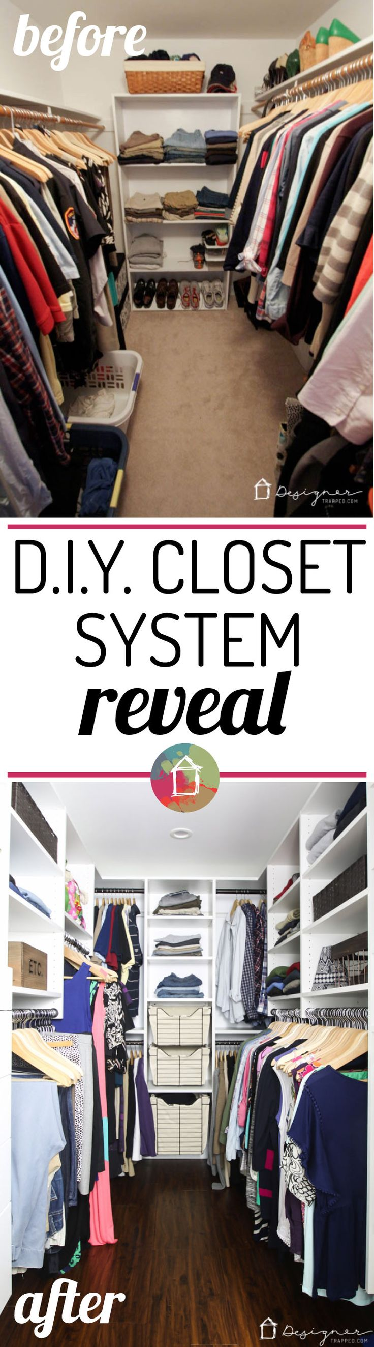 WOW! This DIY closet system reveal is seriously amazing. It's beautiful and seems easy to install and affordable. Now I just need to convince the hubby :)