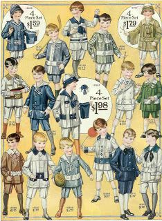 Antique Images: Free Vintage Fashion Graphic: 1915 Boy's Fashion Illustration Full Page from Vintage Catalog