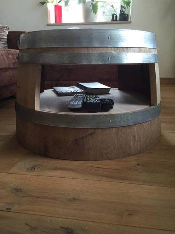 Wine Barrel Coffee Table With Inlet Floor Nature Weinfass Weinfass Tisch Und Beistelltische
