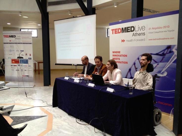 Despoina Sanoudou at TEDMED live Athens Press conference