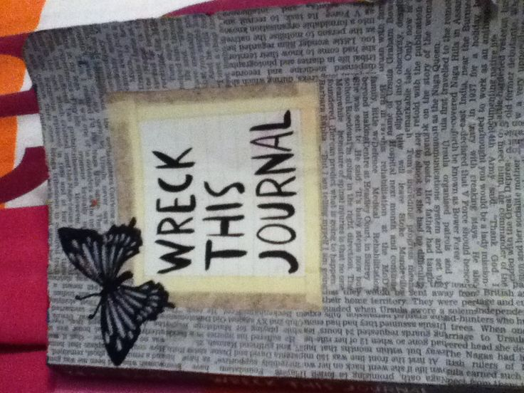 My wreck this journal front cover!!