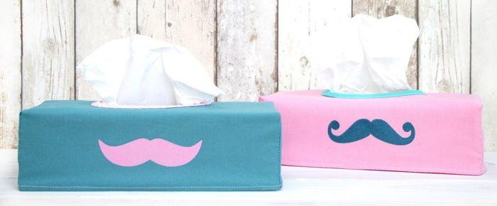 DIY Anleitung: Hülle für Taschentücherbox nähen // diy: how to sew a case for a tissue paper box via DaWanda.com