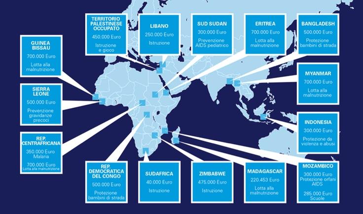 Il #5x1000 all'UNICEF fa il giro del mondo (infografica)