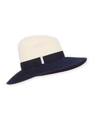 Drake Wool Wide-Brim Fedora Hat by Gigi Burris at Bergdorf Goodman.