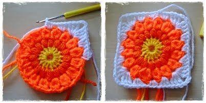 free circle in a square motif crochet pattern