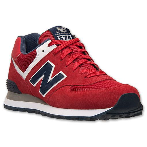 new balance 574 men red