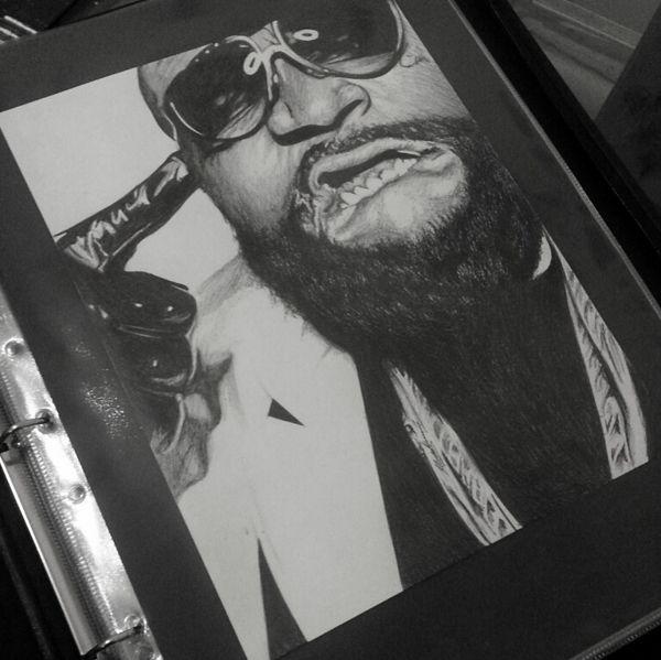 Rick Ross Portrait Drawing by Musa Drammeh, via Behance Maybach Music #art