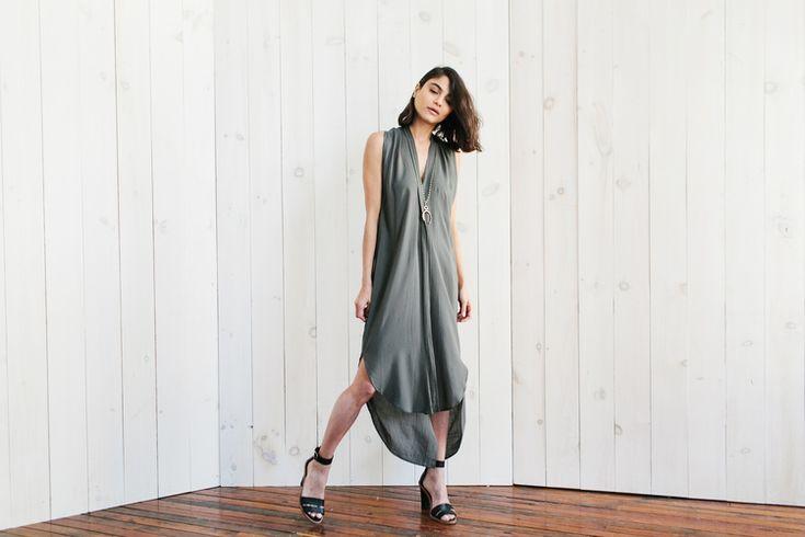 Olive Origami Dress