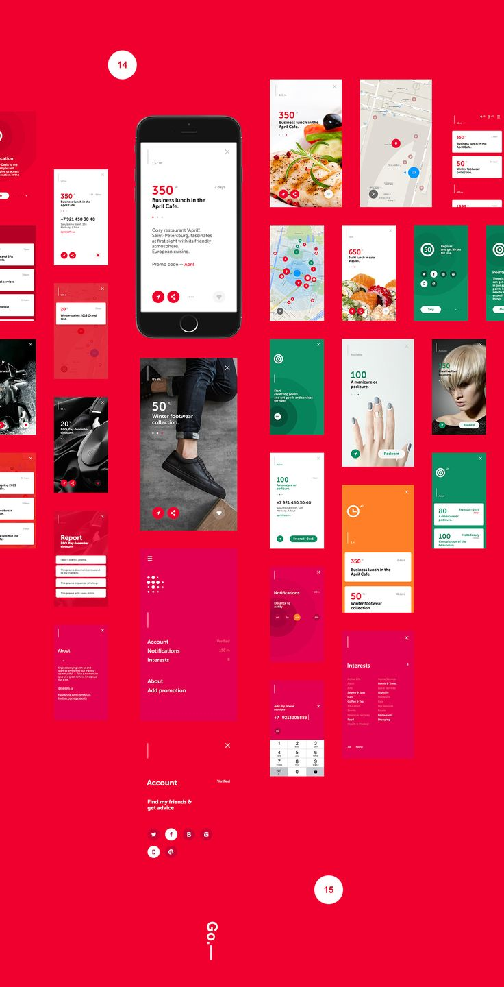 Poster design app - Deals App On Behance