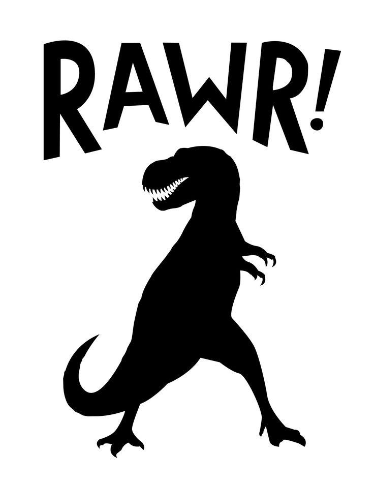 RAWR Dinosaur Theme Nursery Poster