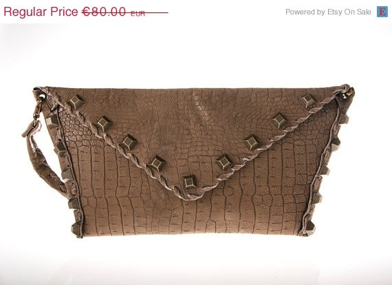 on sale tan leather purse bag by ElenLovelyCollection on Etsy, €72.00