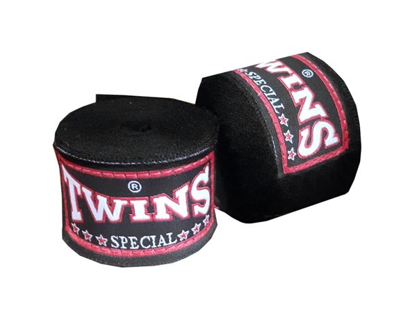 Twins Kids Muay Thai Hand Wraps : Black