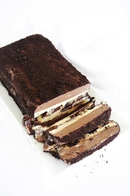 ... vanilla chocolate brownie ice cream cake ...