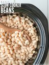 One of the easiest ways to save money on healthy food is to make slow cooker beans. We soak them first to de-gas the beans, and then the slow cooker does the cooking. It's hands off healthy cooking (that's cheap) at its finest! :: DontWastetheCrumbs.com