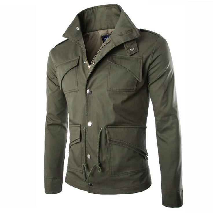 Куртка мужчины осень дизайн мужские приталенный брюки-карго куртки свободного покроя марка стильный на открытом воздухе ветровка весте Homme Jaquetas