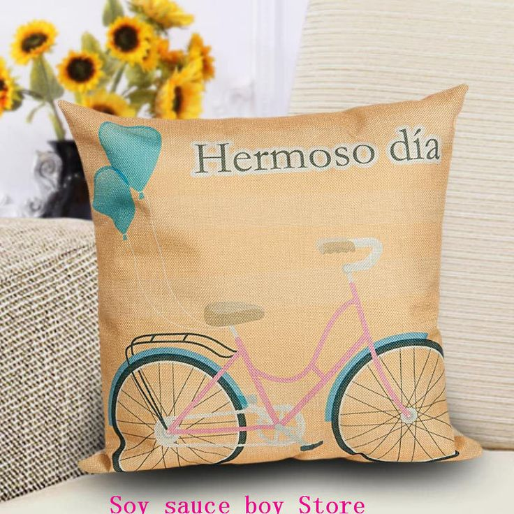 Health christmas Comfortable environment Cartoon bicycle5 Pillow Case for baby Children.