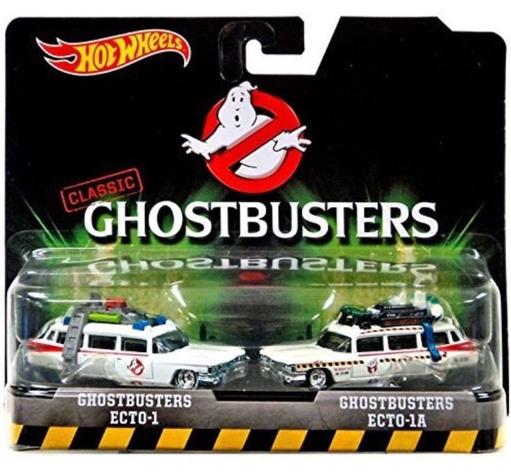 Hot Wheels 2016 Classic Ghostbusters 2-Pack Ecto-1 and Ecto-1A NEW #Mattel