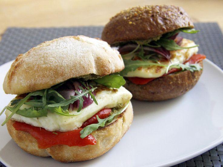 Das Veggie-Rezept: Halloumi-Burger